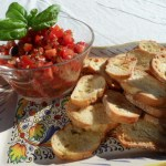 Heirloom Tomato and Fresh Basil Crostini