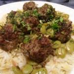 Baharat Meatballs with Fava Beans