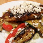 Za'atar Chicken and Grilled Zucchini, Peppers and Feta