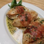 Chicken Stuffed with Fontina and Sage and Wrapped with Prosciutto