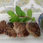 Lamb Chops with Garlic, Fresh Mint and Oregano with a Fresh Mint Sauce