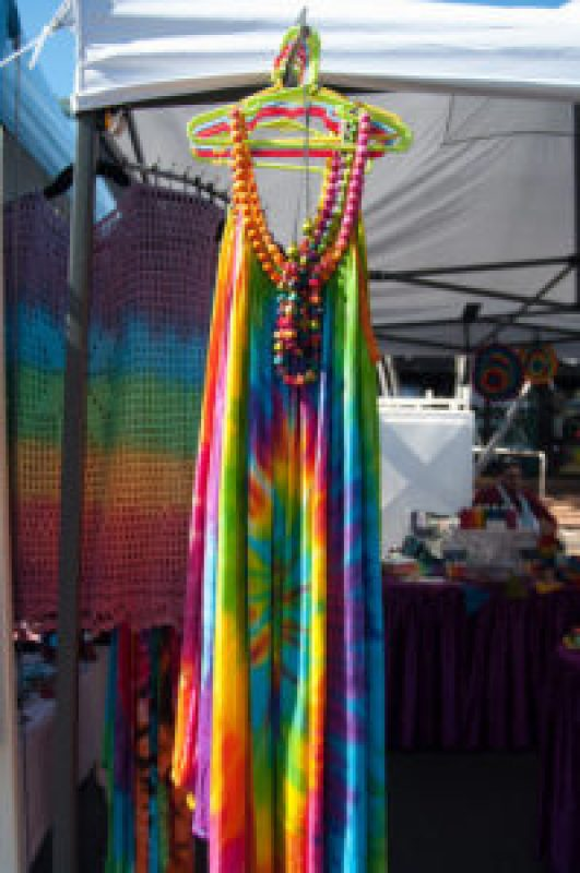 Tie Dye Crazy rainbow dress at the Cleveland Markets, Brisbane QLD Australia 20150802-VPR00341.jpg