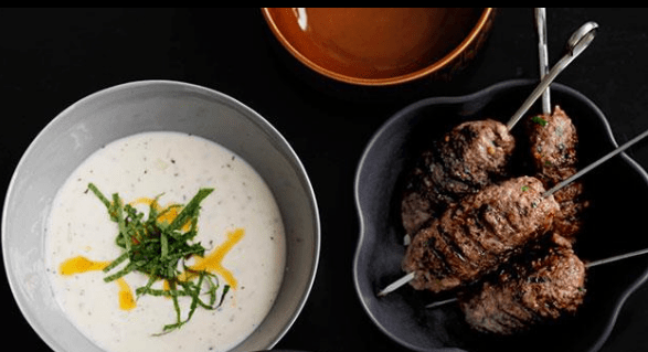 Shane Delia: Guitta Maroun's mint and yoghurt soup with grilled goat kofta