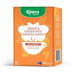 Kintra Foods Lemon & Ginger with Manuka Honey Tea