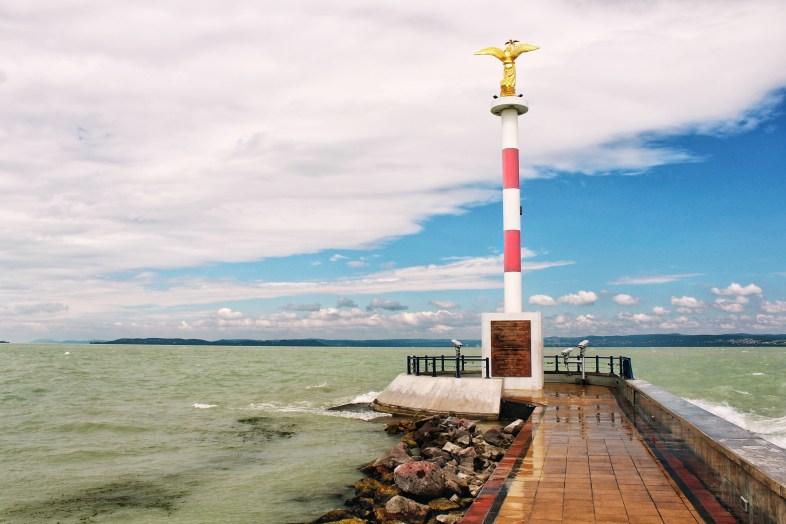 A lookout point at Lake Balaton
