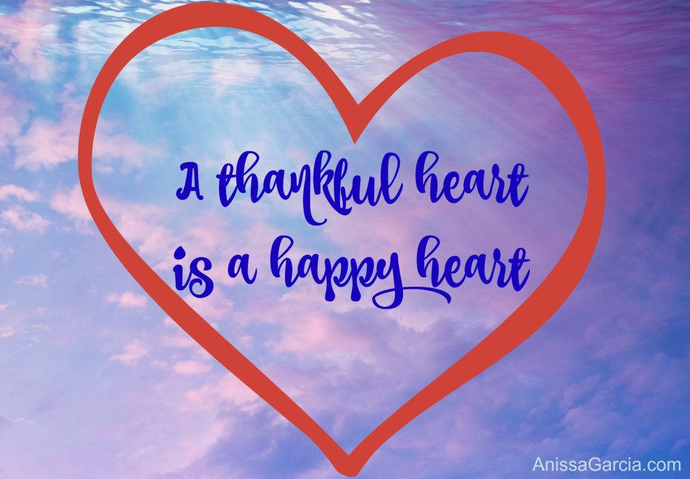 Anissa Garcia Blog Thankful