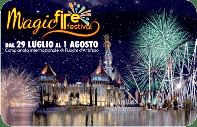 magic fire festival rainbow magicland valmontone