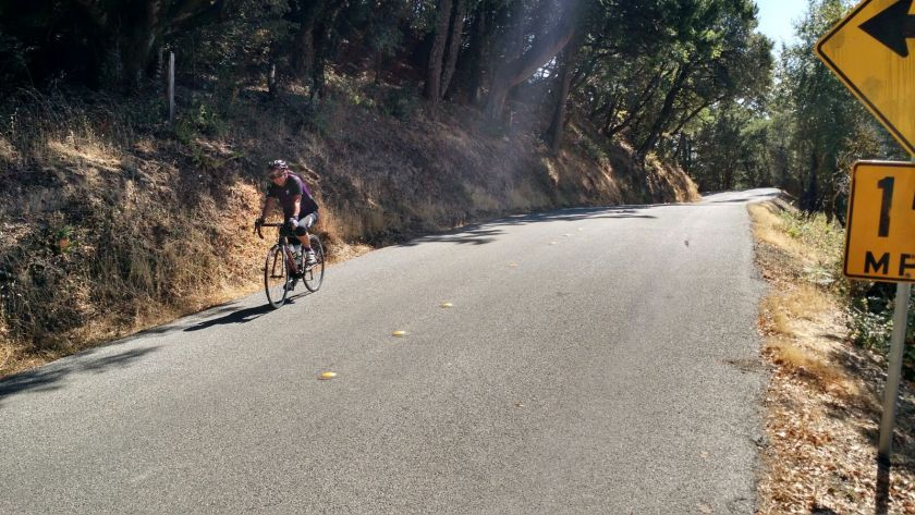 A practice ride that took me up West Alpine Road in the Bay area.