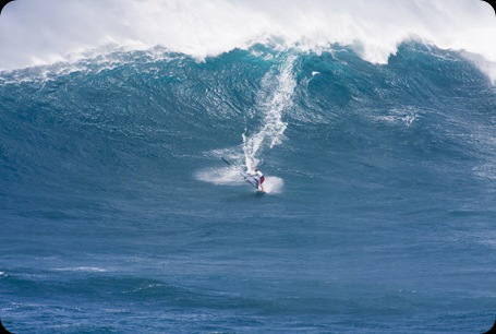 Bart windsuring at Jaws in Maui