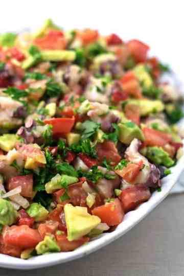 Salada de Polvo e Abacate | Anita Healthy