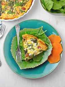 Prosciutto Spinach Quiche with Butternut Crust