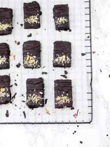 Barritas energéticas de chocolate