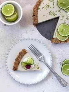 Tarte de Côco e Lima vegan