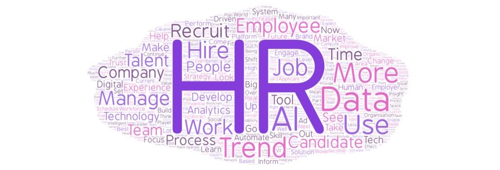 HR word cloud