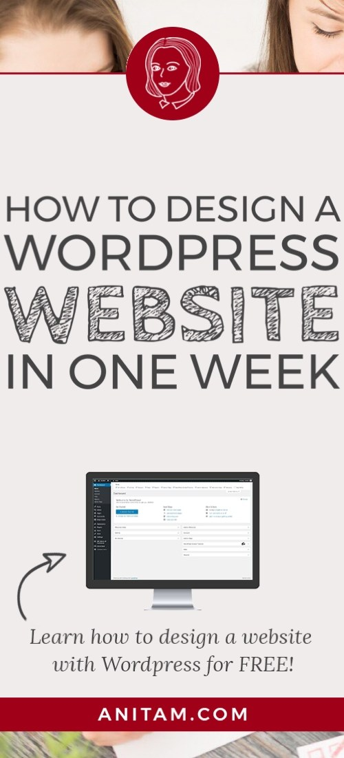 AnitaM | How to design a WordPress website in one week
