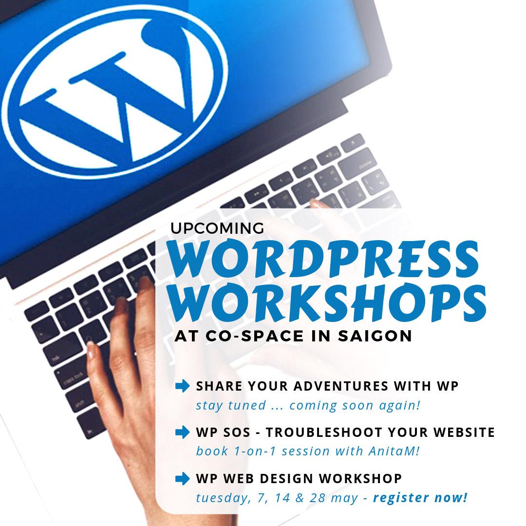 WordPress Workshops with AnitaM in Saigon, Viet
