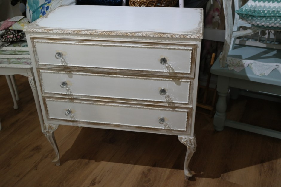 Vintage Shabby Chic Drawers Louis Style