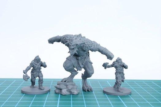 Figurines Warhammer réalisées à l'aide d'une imprimante 3D
