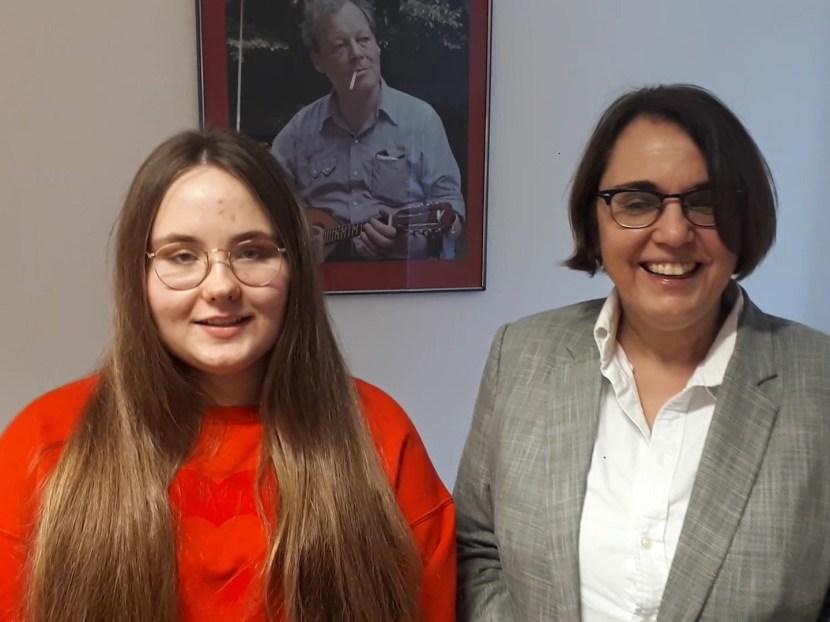 Vanessa Meurer macht ein Praktikum bei Anja Butschkau