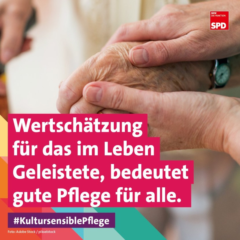 Kultursensible Altenpflege NRW SPD Guter Lebensabend NRW