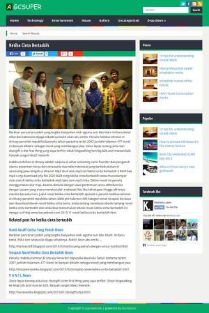 Download Theme WordPress Berita Theme untuk Blog AGC news