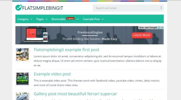 Download Theme WordPress Fast Loading, Theme WordPress Flat Colour Terbaru