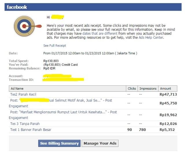 Cara membayar iklan facebook Pembayaran Iklan Facebook Ads
