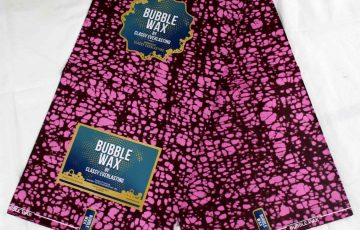 Bubble wax ankara magenta