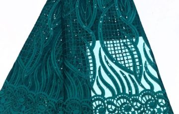 Sample Lace steelblue colour pattern