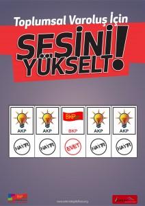 Sesini Y++kselt Poster