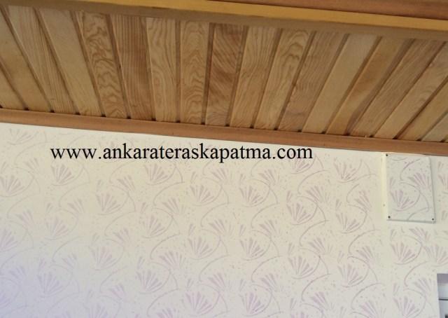 Duvar Kağıt Kaplamalı Teras Kapatma