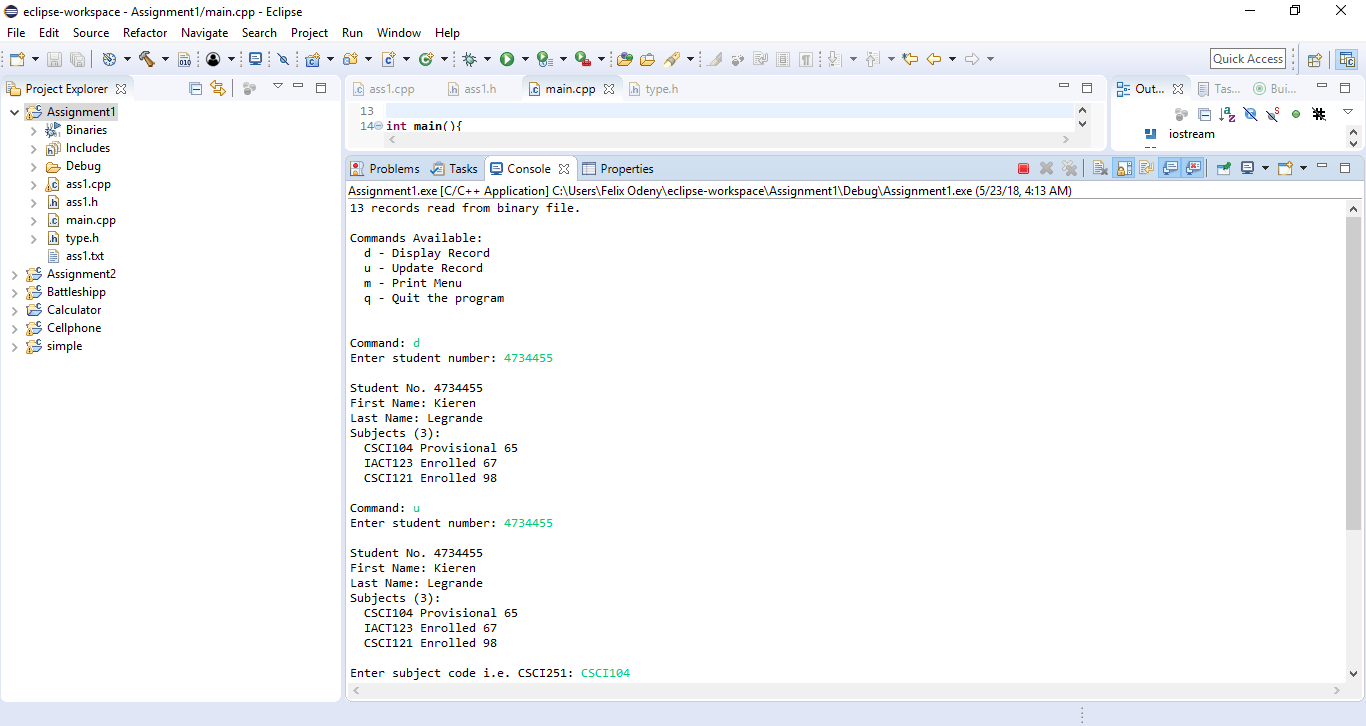 CSCI251/851 Advanced Programming Assignment 1 Solved - ankitcodinghub