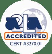 A2LA accredited symbol cert #3270.01