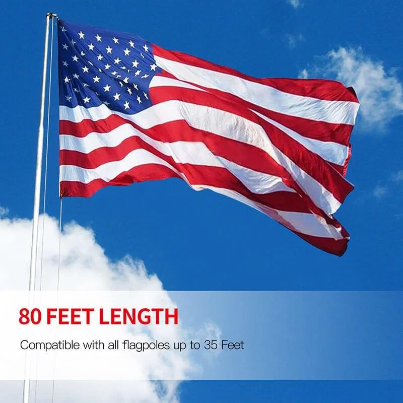 Flag halyard rope