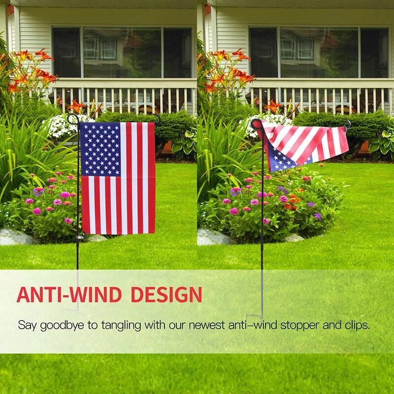 Garden flag stopper