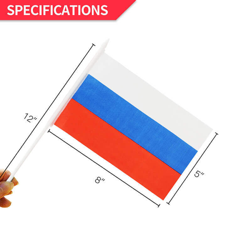 Russia Stick Flag