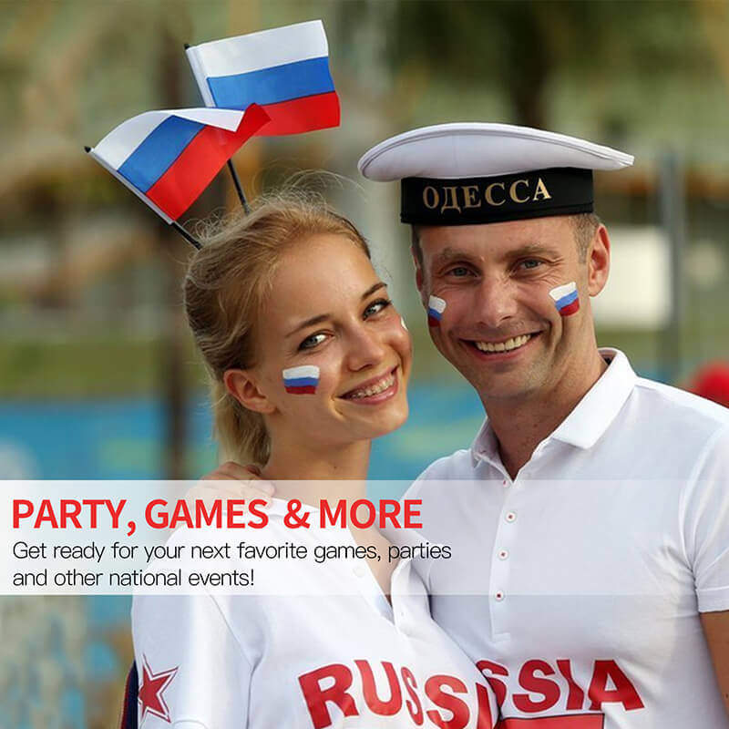Russia Stick Flag