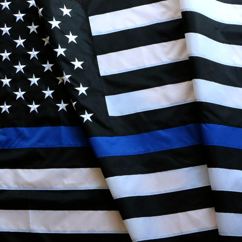 Sewn Thin blue line flag