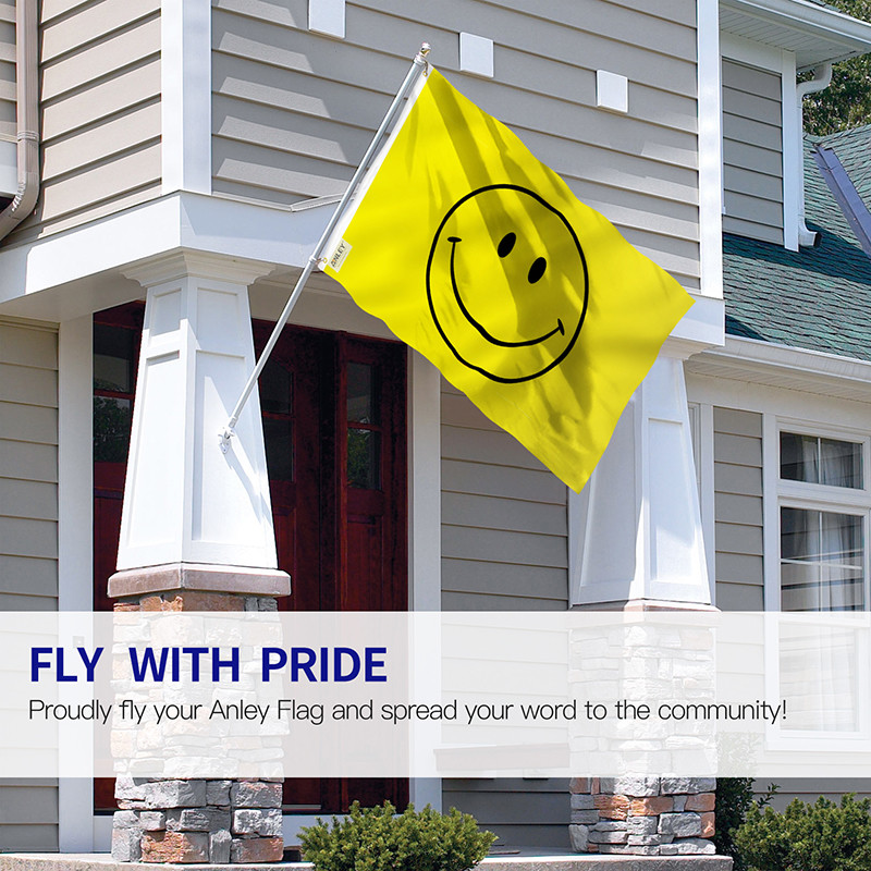 yellow happy smile face flag