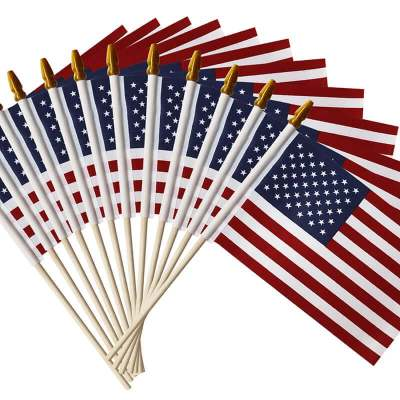 USA Wooden Stick Flag