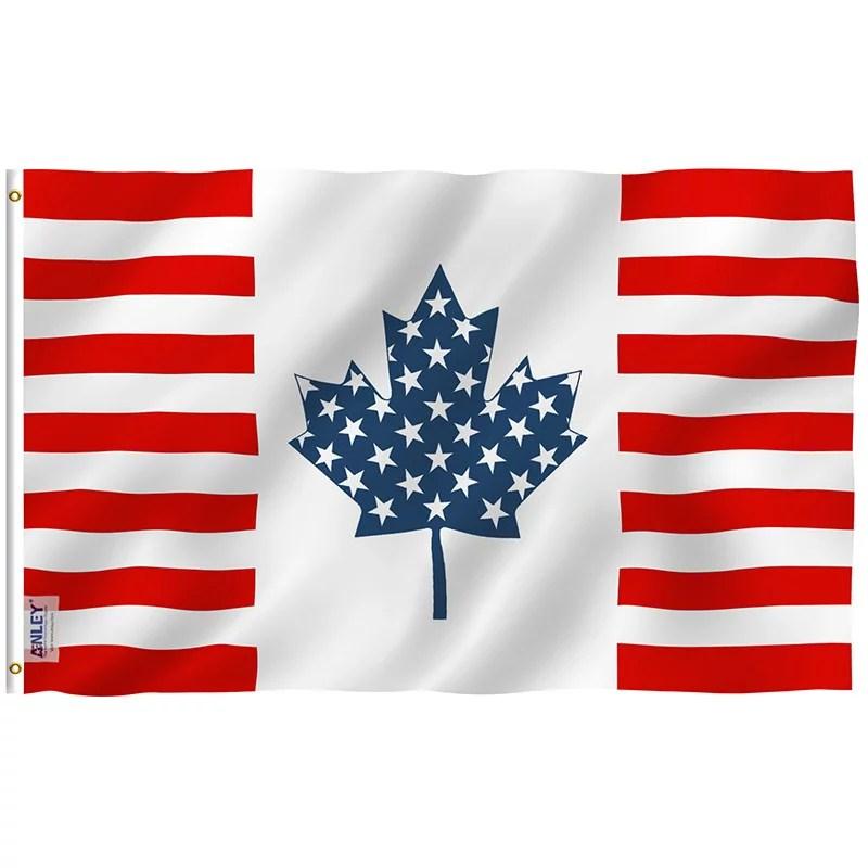 USA Canada Friendship Flag