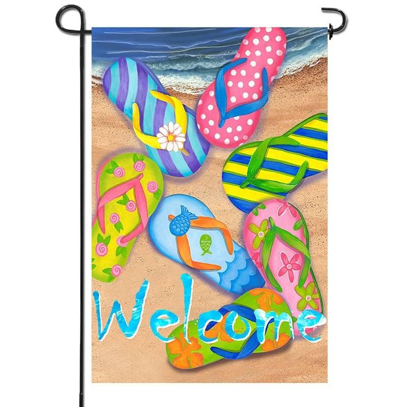 beach slipper flag