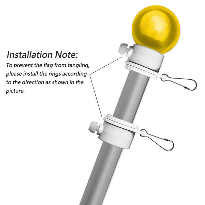 flagpole mounting rings clips