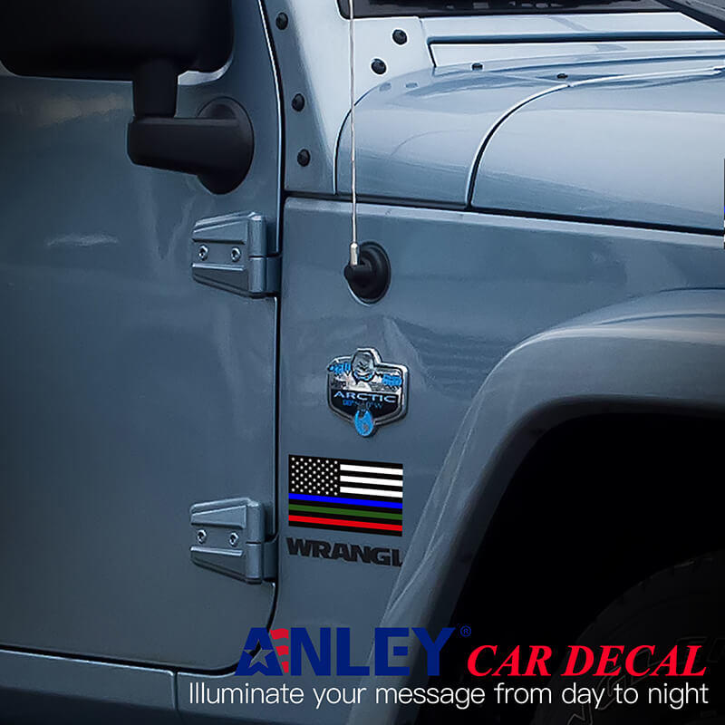 thin line us decal