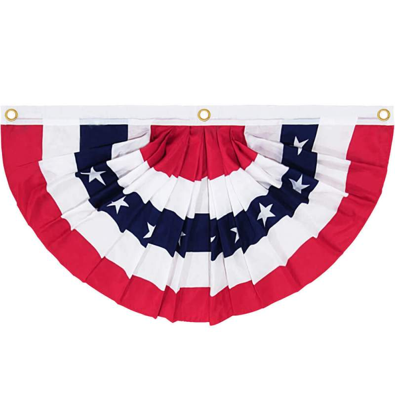 us pleated fan flag