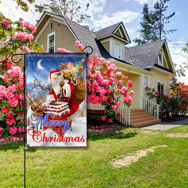 merry christmas garden flag