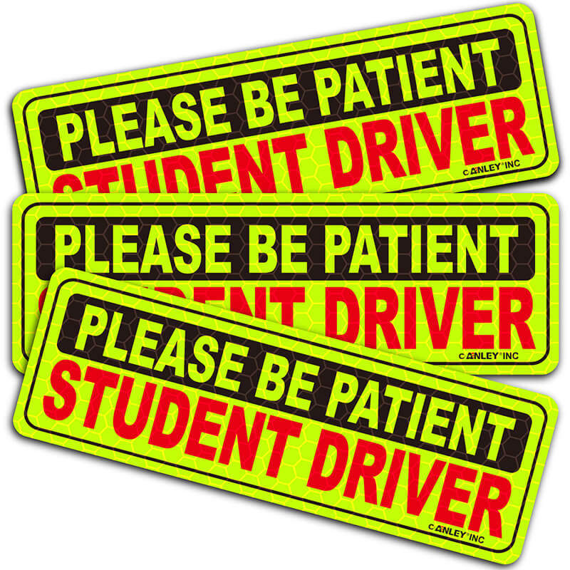 please be patient student driver decal