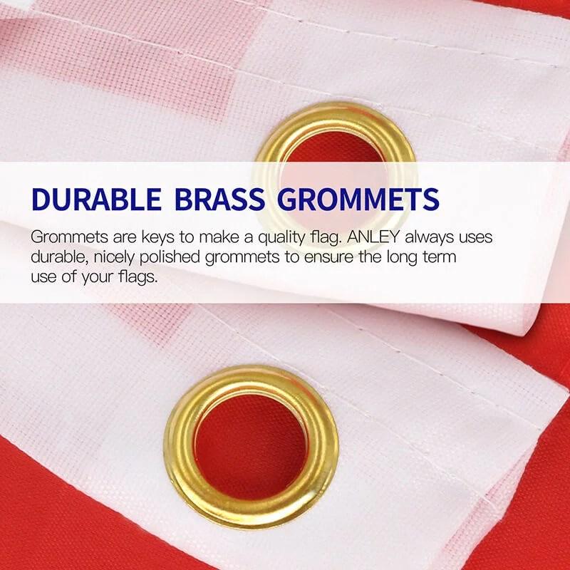 Flag Brass Grommets