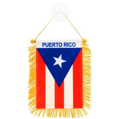 Fringed Puerto Rican Mini Banner