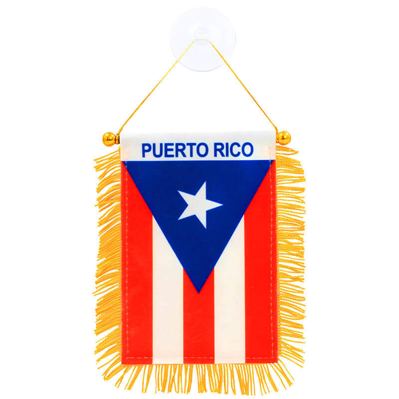Fringed Puerto Rican Mini Banner
